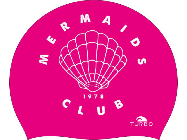Turbo Mermaid Club Swimming Cap rosa